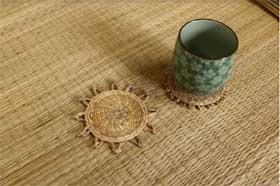 「天造地設—歲時中的工藝」手作工作坊:藺草纏繞杯墊