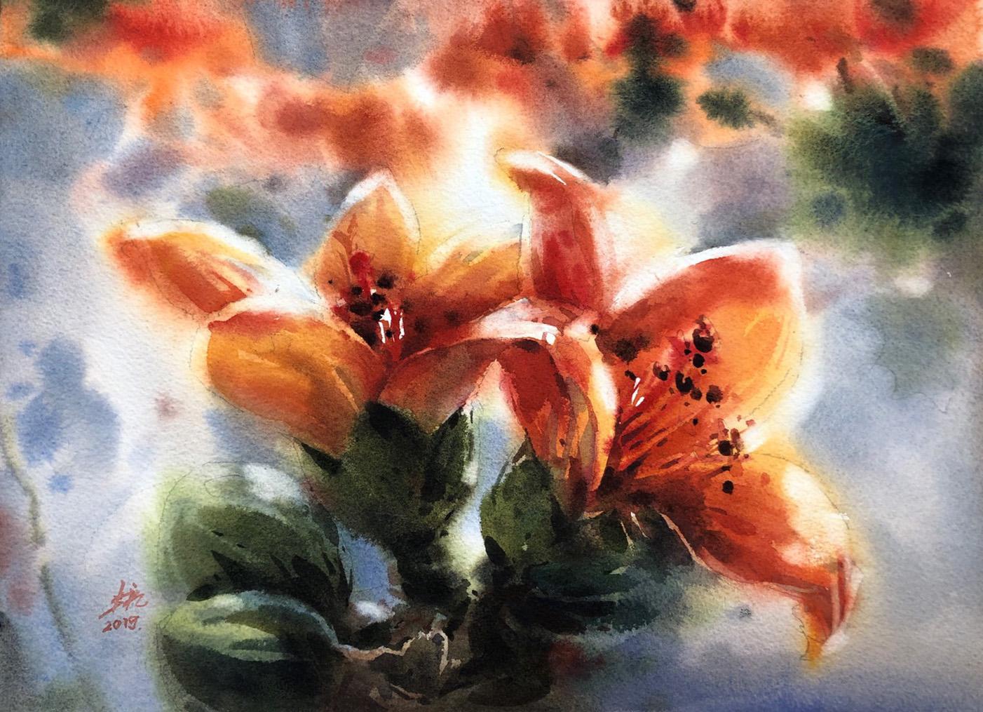 水彩創作-花卉與景物