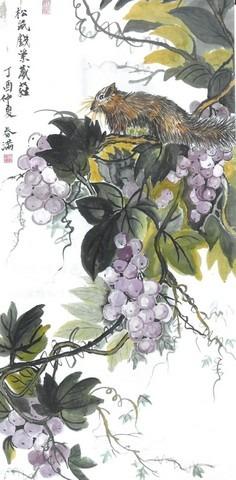 王戴春滿水墨畫—花鳥及山水